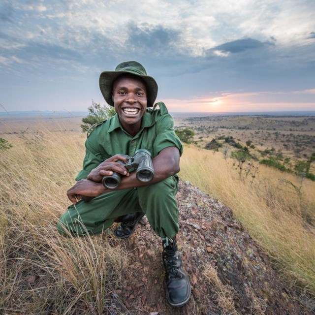 Anti-poaching observation post visit