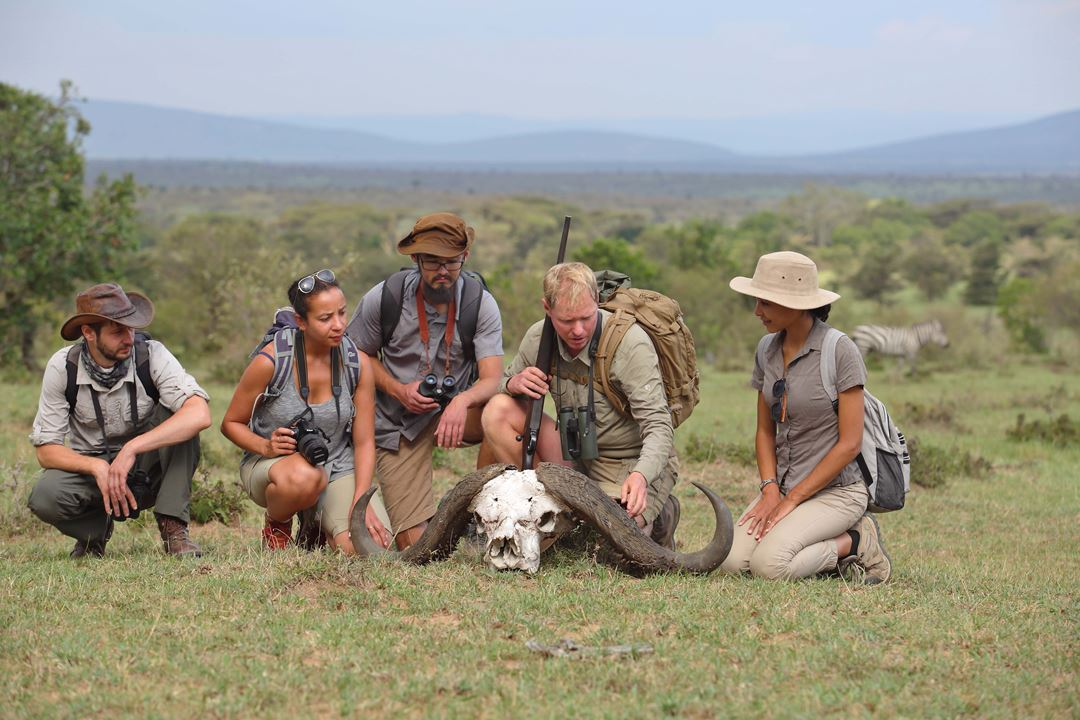 Asilia Adventures Ke 6 2019 75.1.Guide Talking About Buffalo Skull Jpg