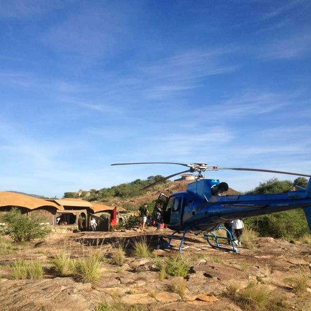 17. Helicopter And Kudu House