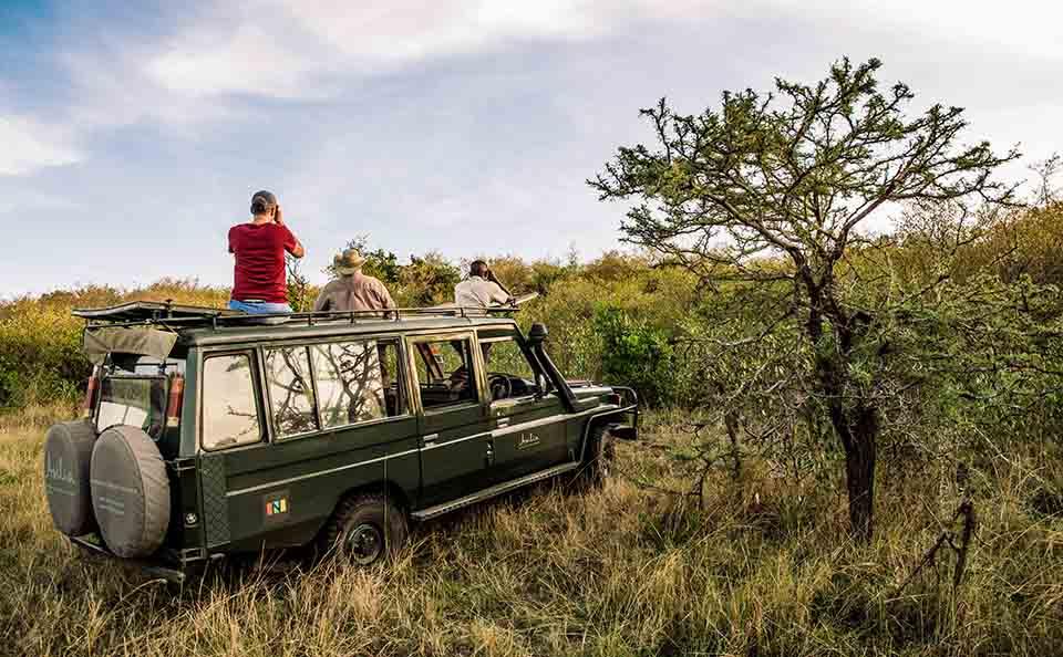 asilia africa safari vehicle on game drive in east africa