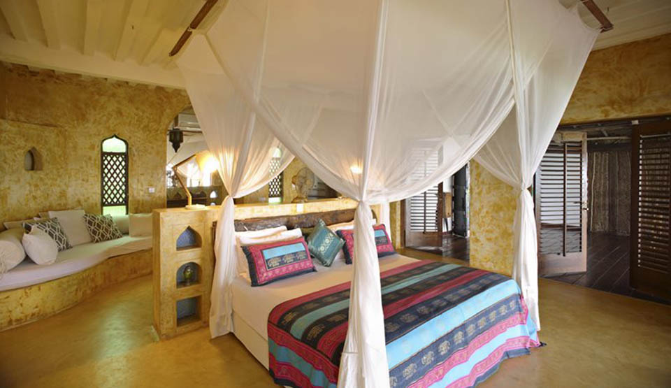 Your bedroom at Matemwe Retreat.