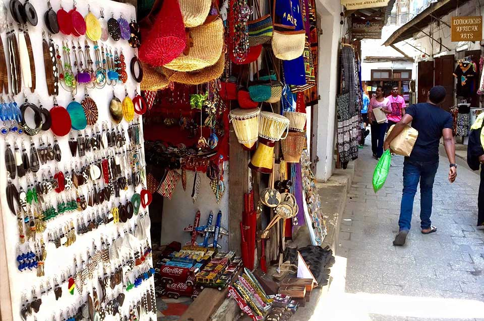Stone Town's markets have a lot to offer. Photo credits: Gina Owen