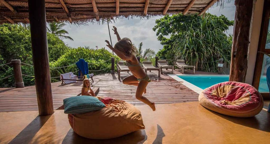 Only five steps from the white sands of Matemwe Beach in its own walled garden is one of Zanzibar's most exclusive houses for families, Matemwe Beach House.