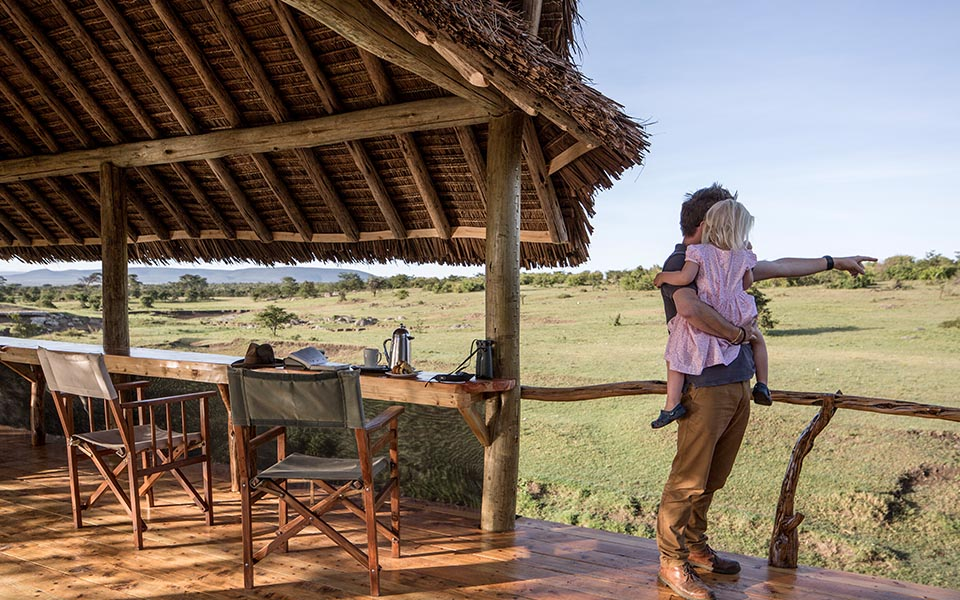 Encounter Mara's deck overlooks a waterhole - zebra, giraffe, wildebeest, and more visit the waterhole each and every day so there is always something to see.