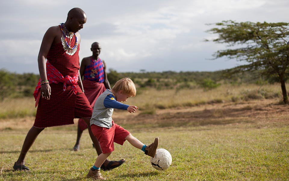 Our team loves a good game of football in the afternoons as well, so if your kids are football-lovers there will surely be a match or two to play!