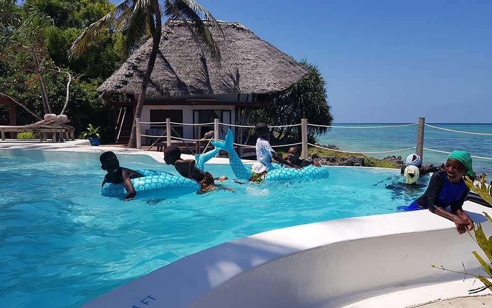 Twende baharini fun in the sun swimming at matemwe