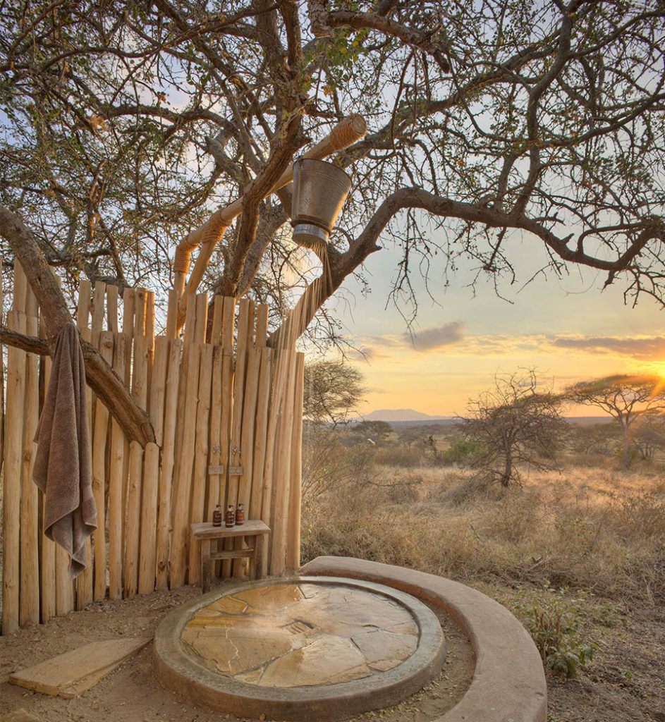 The wooden wall of your outdoor shower is a perfect scratching post for our resident elephant.