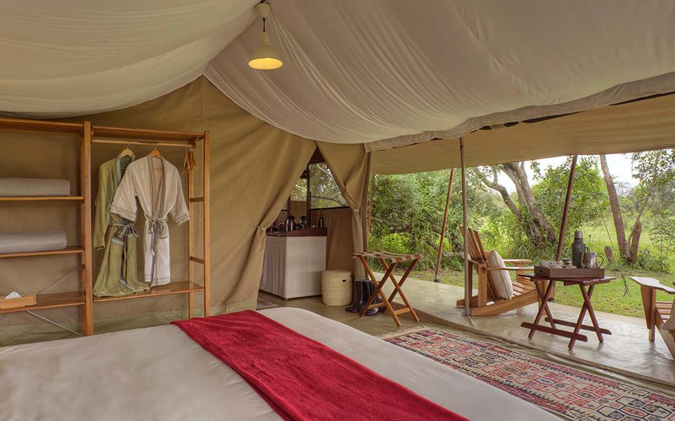 Asilia Ol Pejeta Bush Camp - Guest tent with veranda