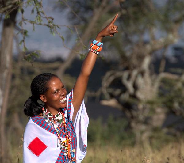Evalyn, female Naboisho guide